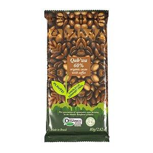 CHOCOLATE QAHWA 60% CACAU COM CAFE ORGANICO 6X80G