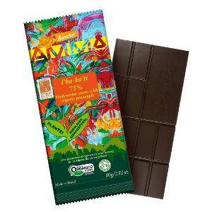 CHOCOLATE IBAKATI 75% CACAU ORGANICO 6x80g