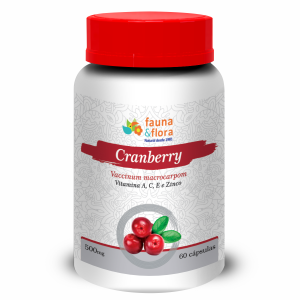 CRANBERRY VITAMINA A, C, E E ZINCO 500MG 60 CAPS