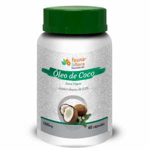OLEO DE COCO EXTRA VIRGEM 1000MG 60CAPS
