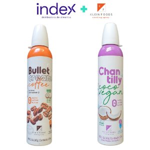 COMBO: 6x CHANTILLY DE COCO VEGANO SPRAY + 6x BULLET CREAM COFFEE SPRAY - (240ml)