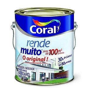 TINTA ACRILICO FOSCO STANDARD RENDE MUITO CORAL 3,6 LITROS