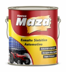 ESMALTE AUTOMOTIVO FOSCO 0,9L PRETO FOSCO - MAZA
