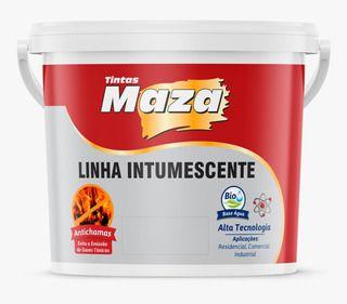 VERNIZ INTUMESCENTE ANTI-CHAMA FOSCO 3,6L - BASE AGUA - MAZA