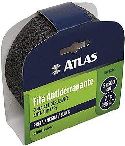 FITA ANTIDERRAPANTE 50MMX5M PRETA - 178/1 - ATLAS