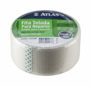 FITA TELADA P/GESSO/DRYWALL 50MMX45M - AT2945 - ATLAS