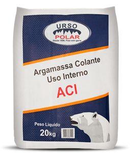 ARGAMASSA COLANTE INTERIOR ACI 20KG CINZA - URSO POLAR