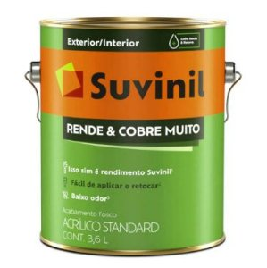 TINTA ACRÍLICA FOSCA STANDARD 3,6L - RENDE E COBRE MUITO - SUVINIL