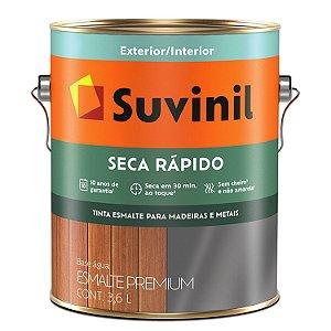 ESMALTE BRILHANTE BASE DE ÁGUA 3,6L - SECA RAPIDO - SUVINIL