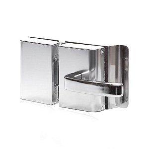 Fechadura Elétrica Vidro Furo e Vidro Inox