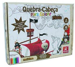 Quebra Cabeça Pirata para colorir