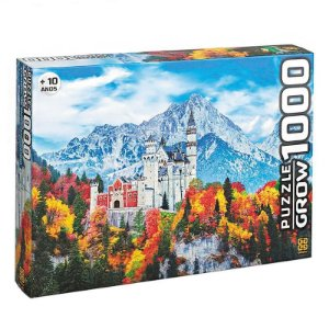Quebra-Cabeça - Castelo de Neschwanstein - 1000 Peças - Grow