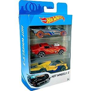 Pacote 3 Carrinhos Hot Wheels - Sortidos - Mattel
