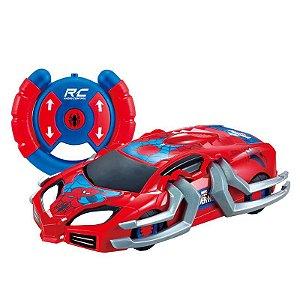 Veículo de Controle Remoto e Figura - Disney - Marvel - Spider-Man - Web Crasher - Candide