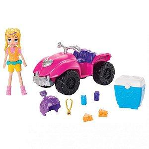 Boneca com Quadriciclo - Polly Pocket - Roupas e Acessórios - Mattel