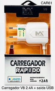CARREGADOR RÁPIDO PARA CELULAR V8 3.6 MAX-CAR65