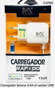 CARREGADOR RÁPIDO PARA CELULAR I6 MA-CAR62