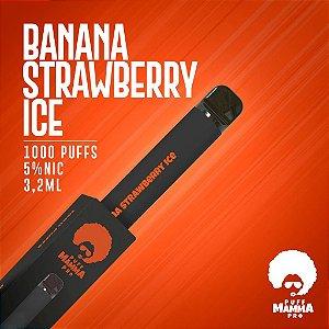 Pod descartável Puff Mamma - Pro - 1000 Puffs - Banana Strawberry Ice