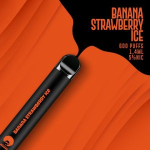 Pod descartável Puff Mamma - Fix - 600 Puffs - Banana Strawberry Ice