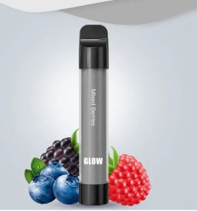 Pod Descartável 800 Puffs - Glow- Vapeman - Mixed Berries