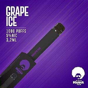 Pod descartável Puff Mamma - Pro - 1000 Puffs - Grape Ice
