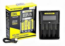 Carregador Inteligente de Baterias UM4 - Nitecore