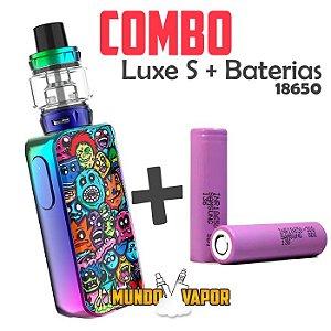COMBO VAPE - 1 Kit Luxe S 220w com SKRR-S + 2 baterias 18650 Samsung 30Q