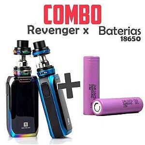 COMBO VAPE - 1 Kit Revenger X + 2 baterias 30Q