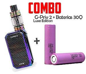 COMBO VAPE - 1 KIT G Priv 2  + 2 BATERIAS 30Q