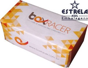 Modelo de Caixa de Papelão Acoplada Box Racer