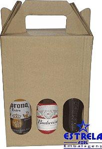 Caixa de Garrafas para 3 unidades - long Neck
