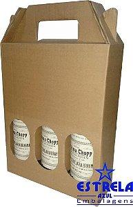 Caixa de Garrafas para 3 unidades - 600 ml