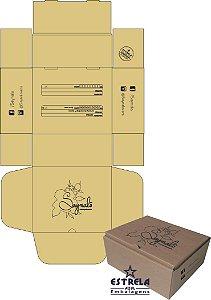 Kit de Caixa Sedex e Fita Adesiva Impressa