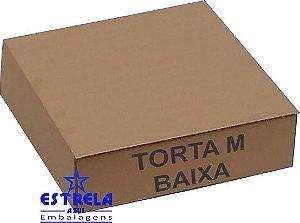 Caixa de Torta M baixa. 35x35x10cm