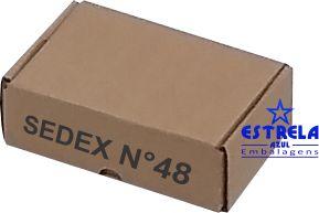 Caixa e-commerce Sedex n°48 Med. 18,5x11x5,5cm