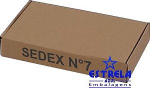Caixa e-commerce Sedex n°7 Med. 34,5x20,5x5,5cm - Ref.7