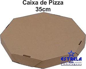 Pizza Parda 35cm Octagonal  Med. 35x35x4,5cm