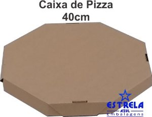 Pizza Parda 40cm Octagonal Med. 40x40x4,5cm
