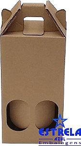 Caixa de Garrafas para 2 unidades - 600 ml