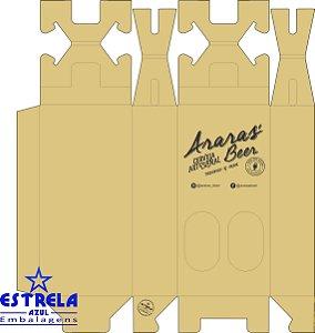 Caixa de Garrafas Personalizada cliente ARARAS BEER - 2 unidades - 600 ml