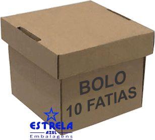 Caixa de Bolo 10 Fatias. 16x16x14cm - Ref.63