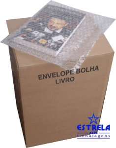 Envelope Plástico Bolha Livro 28x21cm - caixa com 100 unid. - Ref.76