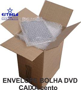 Envelope Plástico Bolha DVD 16x20cm - caixa com 100 unid. - Ref.75