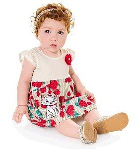 Vestido Bebe Feminino Brandili Disney Marie G