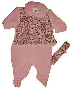 Macacao Bebe Feminino Oncinha Nina P
