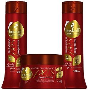 Haskell Kit Pós Progressiva shampoo 300ml condicionador 300ml máscara capilar 250g