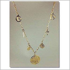 Gargantilha Cartier Medalha Espírito santo