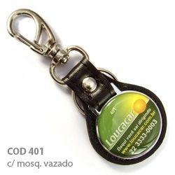 Chaveiro Couro Sintético Personalizado. Kit 100 peças