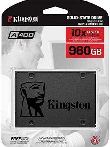 SSD Kingston A400, 960GB, SATA, Leitura 500MB/s, Gravação 500MB/s - SA400S37/960G