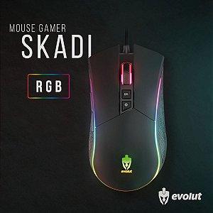 Mouse Gamer Evolut SKADI Usb Led RGB 4800 DPI 7 Botões EG-106